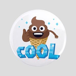 Emoji Poop Ice Cream Cool Button