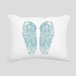 Blue Angel Rectangular Canvas Pillow