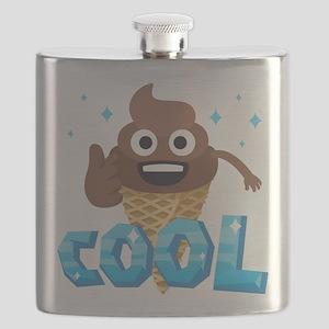 Emoji Poop Ice Cream Cool Flask