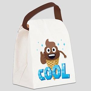 Emoji Poop Ice Cream Cool Canvas Lunch Bag
