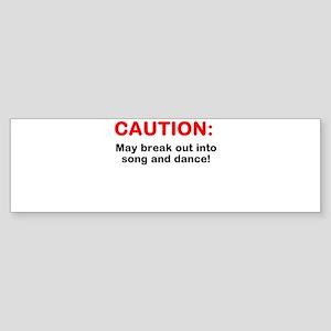 CAUTION: Sticker (Bumper)