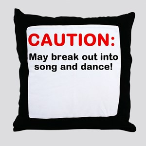 CAUTION: Throw Pillow