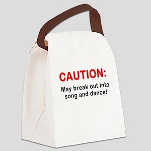 CAUTION: Canvas Lunch Bag
