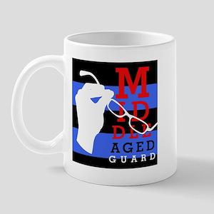 Middle Aged Guard Mug - striped