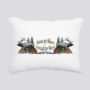 bull elk Rectangular Canvas Pillow