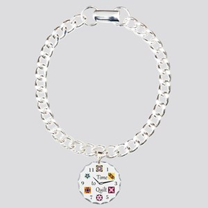 Time to Quilt Charm Bracelet, One Charm