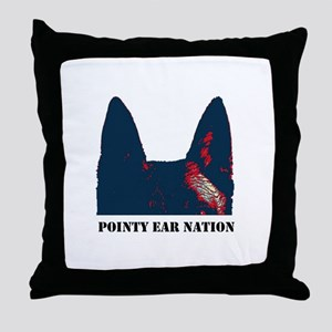 Pointy Ear Nation Throw Pillow