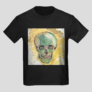 Vincent Van Gogh Skull Kids Dark T-Shirt