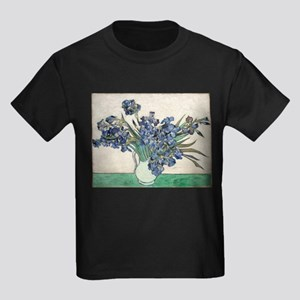 Van Gogh Irises Kids Dark T-Shirt