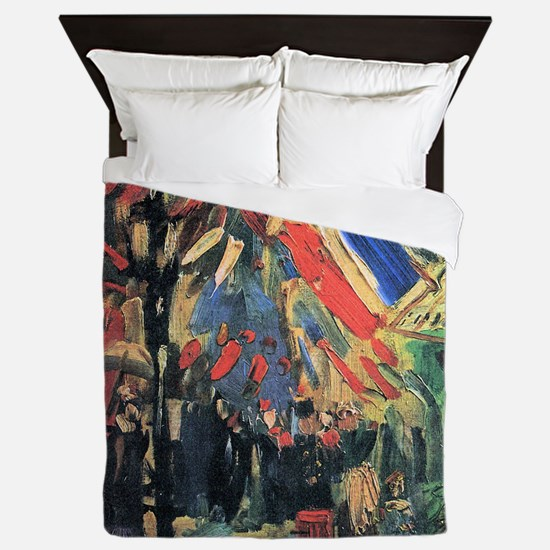 Van Gogh 14 July In Paris Queen Duvet