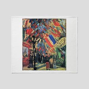 Van Gogh 14 July In Paris Throw Blanket