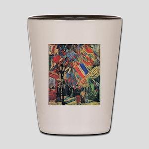 Van Gogh 14 July In Paris Shot Glass