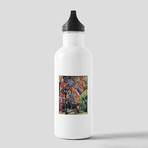 Van Gogh 14 July In Paris Stainless Water Bottle 1
