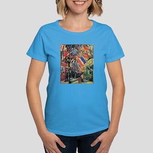 Van Gogh 14 July In Paris Women's Dark T-Shirt