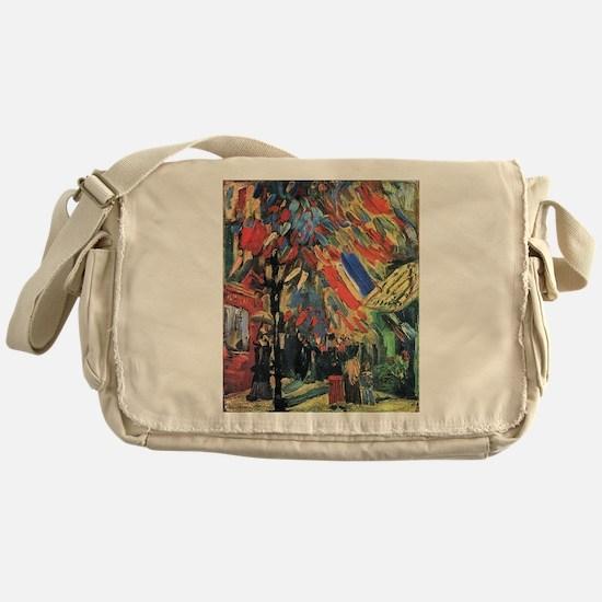 Van Gogh 14 July In Paris Messenger Bag