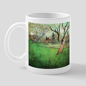 Van Gogh View of Arles with flowering tree Mug