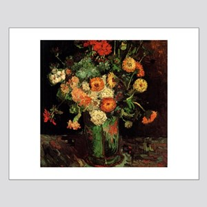 Vase with Zinnias and Geraniums Small Poster