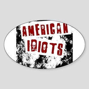 American Idiots Sticker (Oval)