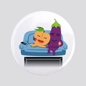 Emoji Peach Eggplant Cuddle Button