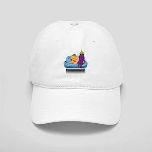 Emoji Peach Eggplant Cuddle Cap