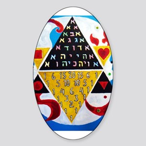 Cabalistic Message in Pascals Triangle Sticker (Ov