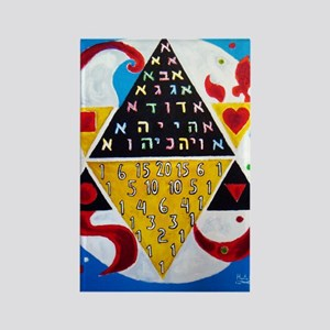Cabalistic Message in Pascals Triangle Rectangle M