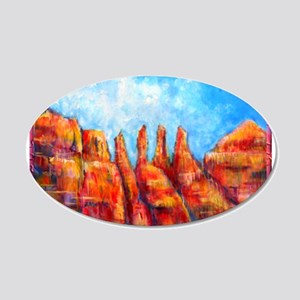 Desert, Southwest , colorful,art! 20x12 Oval Wall