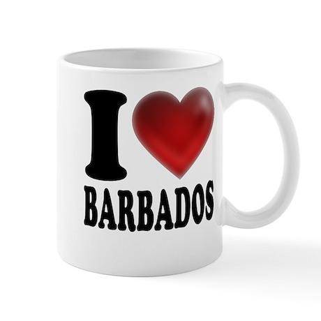 I Heart Barbados Mug