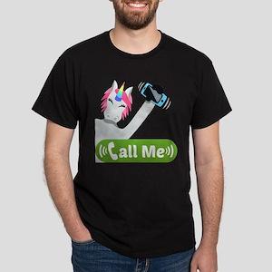 Emoji Unicorn Call Me Dark T-Shirt
