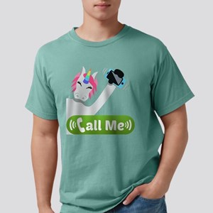 Emoji Unicorn Call Me Mens Comfort Colors Shirt