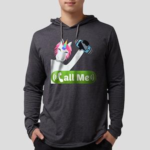 Emoji Unicorn Call Me Mens Hooded Shirt