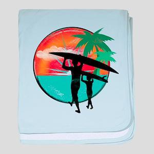 Retro Summer Time Fun baby blanket