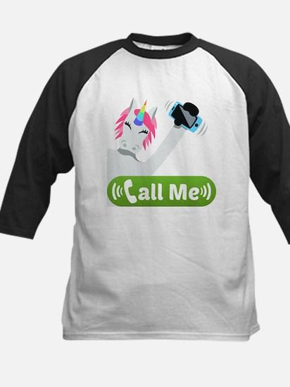 Emoji Unicorn Call Me Tee