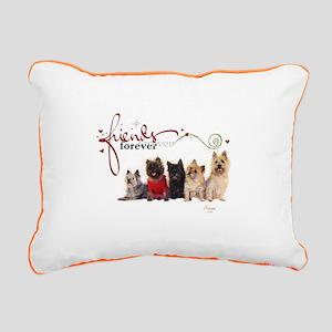 Cairn Terrier Friends Rectangular Canvas Pillow