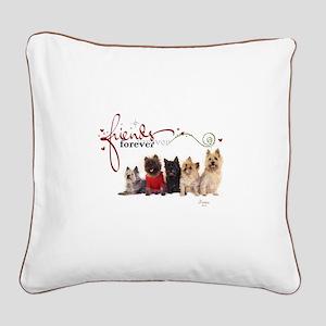 Cairn Terrier Friends Square Canvas Pillow