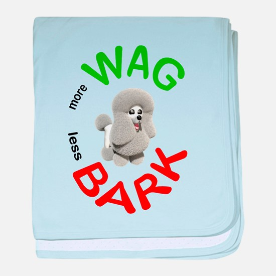 More Wag, Less Bark baby blanket