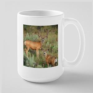 Mule deer velvet Large Mug