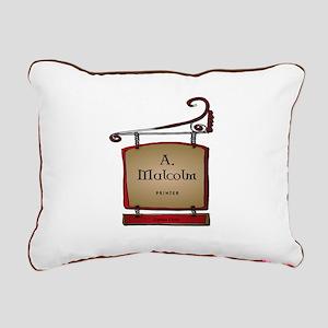 Jamie A. Malcolm Printer Rectangular Canvas Pillow