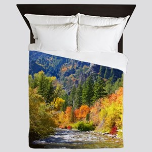 Wood camp Queen Duvet