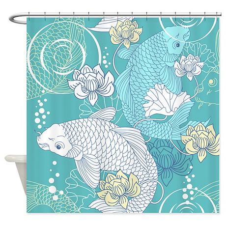 Koi Fish Shower Curtain By BestShowerCurtains