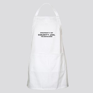 Property Of County Jail BBQ Apron