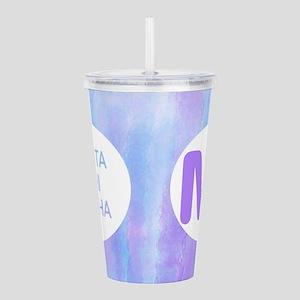 Theta Phi Alpha Purple Acrylic Double-Wall Tumbler