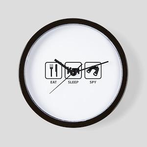 Eat Sleep Spy Wall Clock