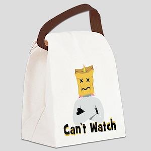 emoji unicorn can't Canvas Lunch Bag