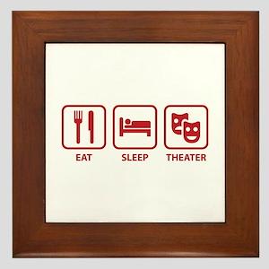 Eat Sleep Theater Framed Tile