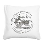 Celtic Victory Chariot Coin Square Canvas Pillow