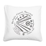 Celtic Eye Coin Square Canvas Pillow