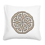 Celtic Knotwork Coin Square Canvas Pillow