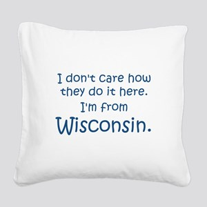 From Wisconsin Square Canvas Pillow
