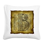 Celtic Letter B Square Canvas Pillow